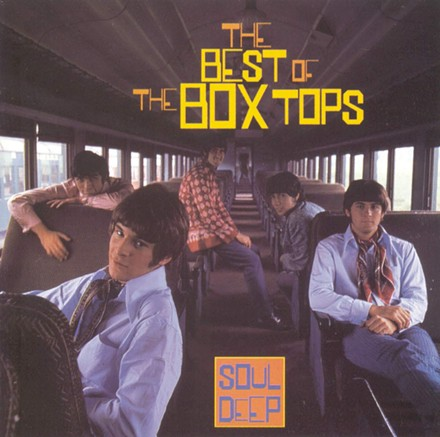 The Box Tops second lineup in 1968 (l to r): (1968), Gary Talley, Alex Chilton, Tom Boggs, Bill Cunningham, and Rick Allen. - RECORD COVER