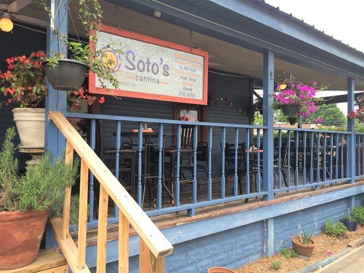 Soto's pretty patio has gone quiet. - PHOTO BY LORRETTA RUGGIERO