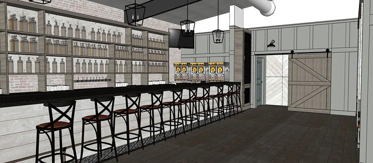 Shady Acres will get a new bar and restaurant next summer. - RENDERING BY VIVIANA VELASCO/KROMADIK DESIGN STUDIO