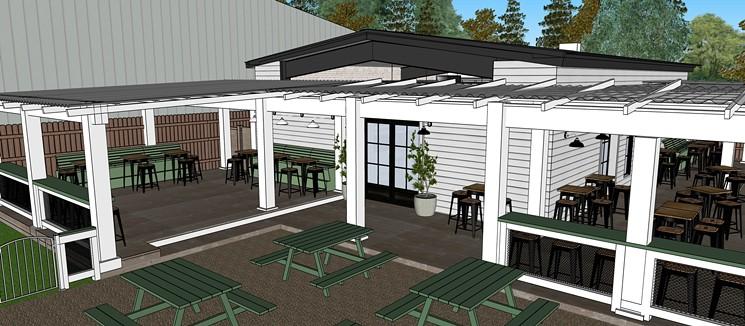 NettBar will offer an expansive outdoor space. - RENDERING BY VIVIANA VELASCO/KROMADIK DESIGN STUDIO