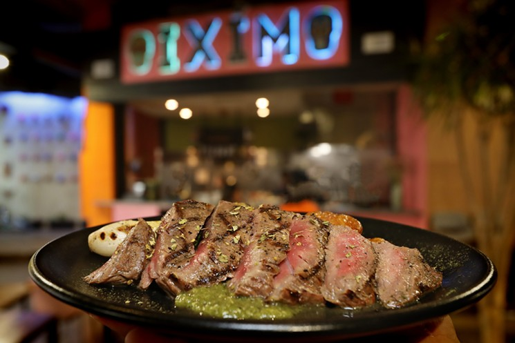 Flank steak is cooked perfectly at Ixim. - PHOTO BY ULISES GARCIA