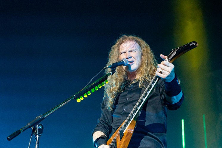 Dave Mustaine of Megadeth. - PHOTO BY JENNIFER LAKE,