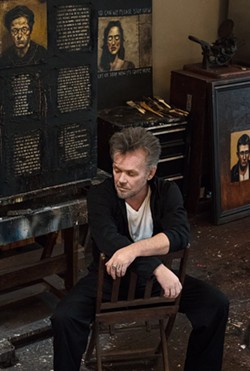 Mellencamp in his art studio at home in Bloomington. - PHOTO BY MYRNA SUAREZ/COURTESY OF ATRIA BOOKS