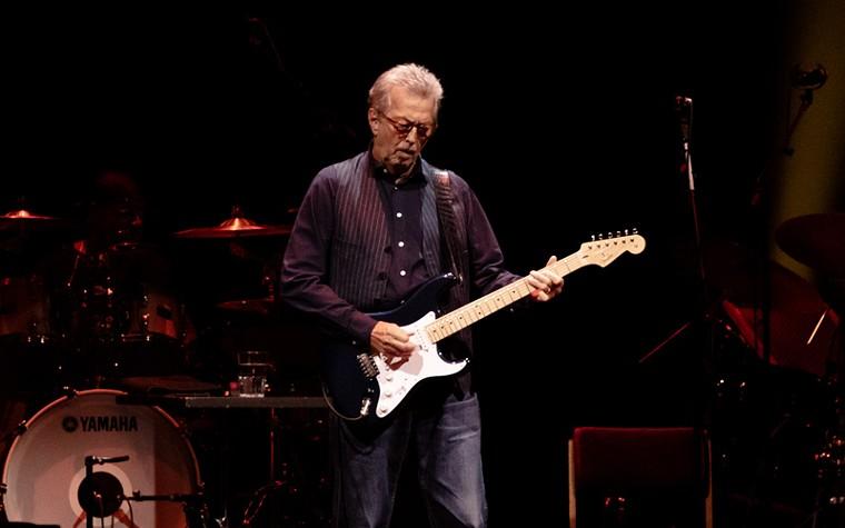 Clapton stayed off his anti-vax soapbox for the night. - PHOTO BY VIOLETA ALVAREZ