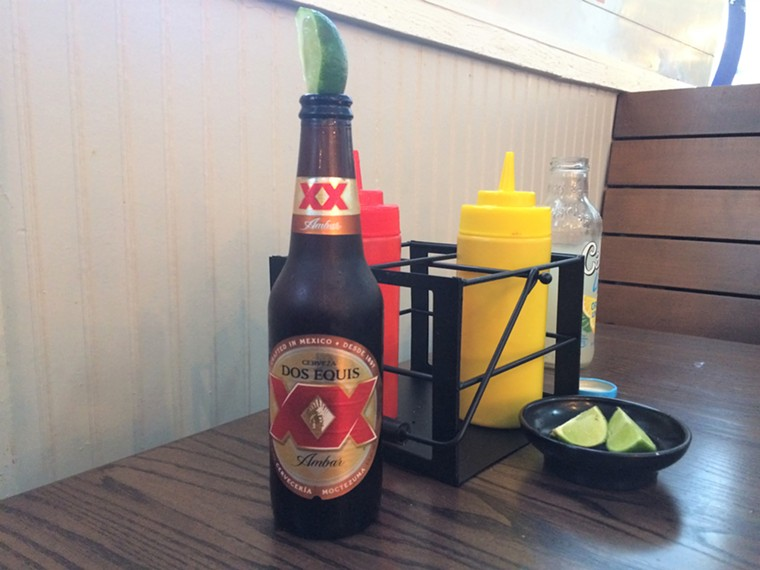 Beer is cold and reasonably priced at Hangar Kitchen.  - PHOTO BY LORRETTA RUGGIERO