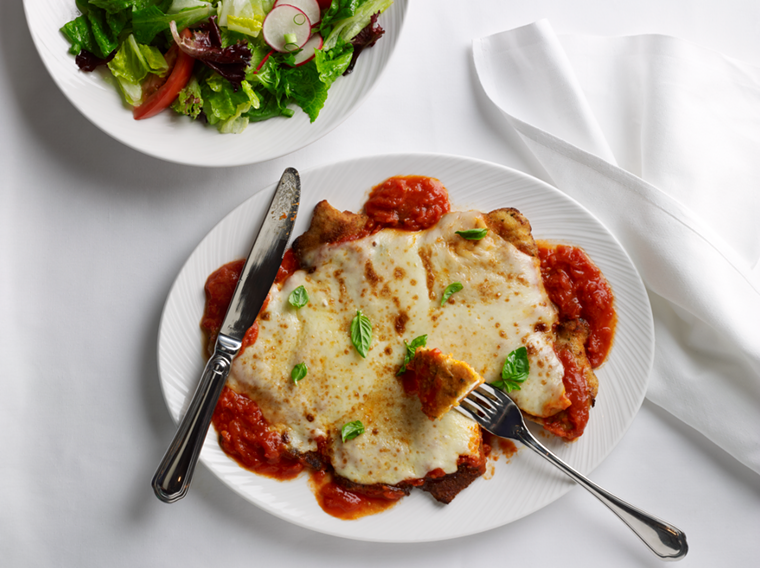True to its Italian-American roots, The Palm does parm. - PHOTO BY PALM RESTAURANTS