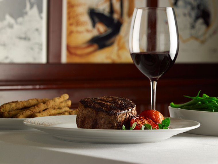 Fine wine and filet mignon is what one would expect at a classic fine dining spot. - PHOTO BY PALM RESTAURANTS