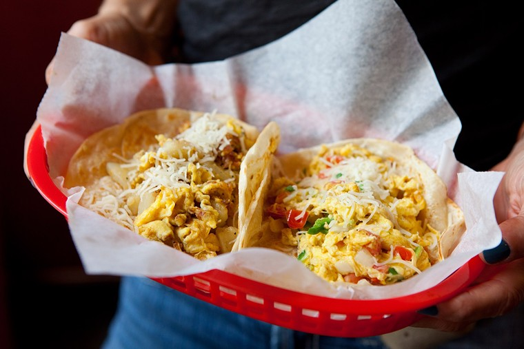 Score $1 breakfast tacos all day at Tacos A Go Go locations this holiday. - PHOTO BY SHANNON O'HARA