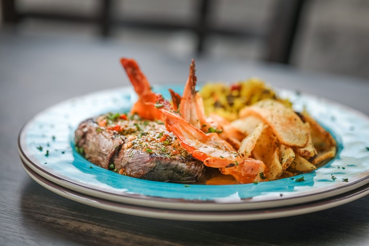 The Ribeye Marina is a South African version of surf and turf. - PHOTO BY CORINE MICHEL