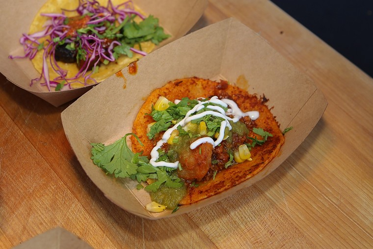 Feast on taco samplings from Houston's finest at our  7th annual Tacolandia event this Saturday. - PHOTO BY ERIC SAUSEDA