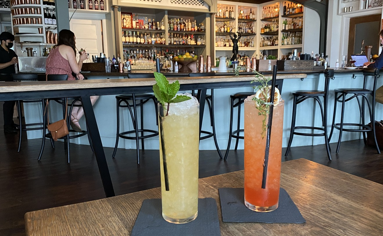 Julep's Missionary's Downfall (left) and Nightshade Apero (right) are the perfect cures for a hot Houston afternoon.