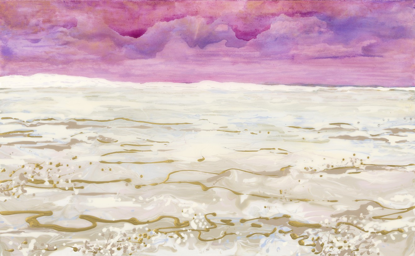 """White Sands II, 30""""x48"""", mixed media on canvas."""