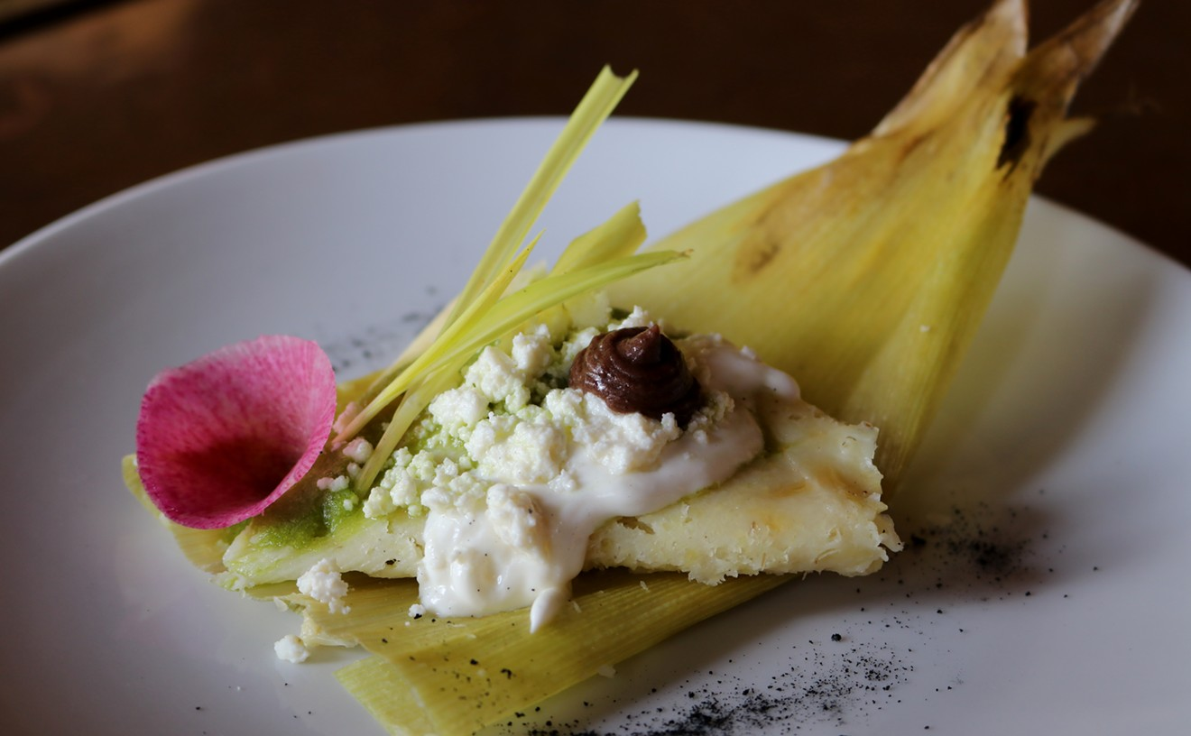 Get 'em while they're hot; fresh corn tamales are on the menu at Hugo's this month.