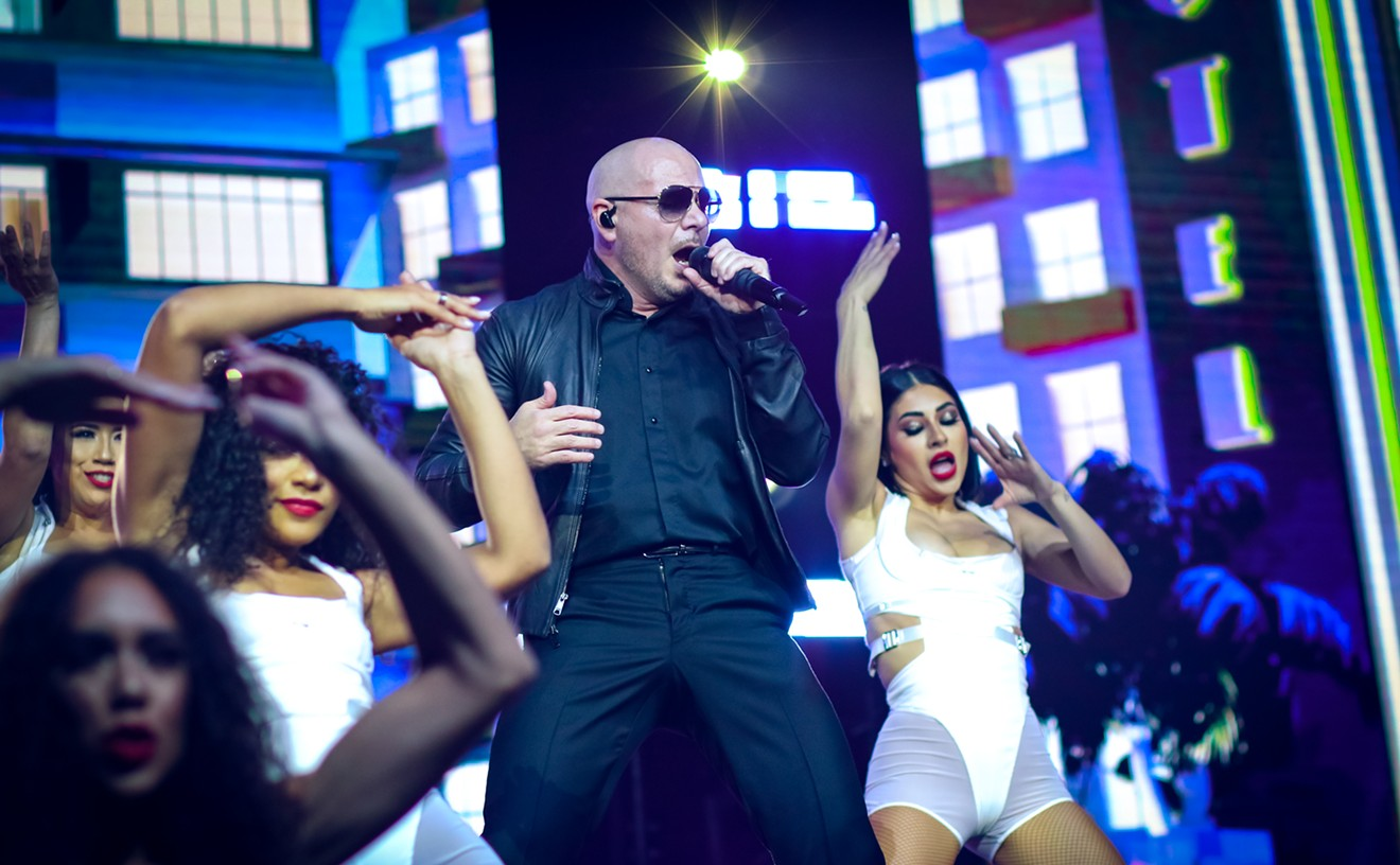 """Miami rapper Pitbull, also known as pop superstar 'Mr. Worldwide', performed in The Woodlands with Iggy Azalea on the """"I Feel Good"""" Tour."""