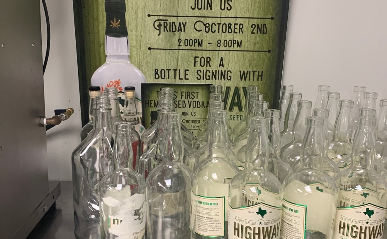 Highway Vodka is made from hemp and corn for a smooth taste and viscous texture.