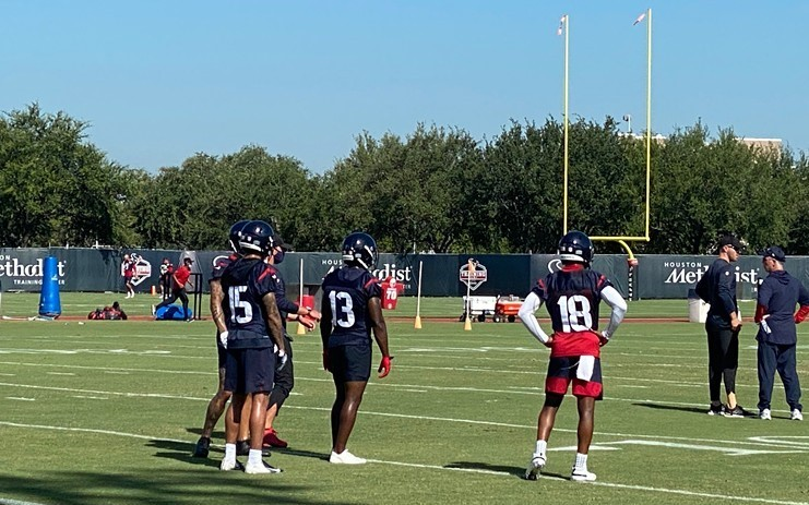 The Texans plan on having a lot of speed on the field this season, starting with their top three receivers — (L-R) Will Fuller, Brandin Cooks and Randall Cobb.