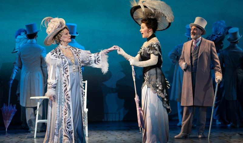 Leslie Alexander as Mrs. Higgins, Shereen Ahmed as Eliza Doolittle and Kevin Pariseau as Colonel Pickering.