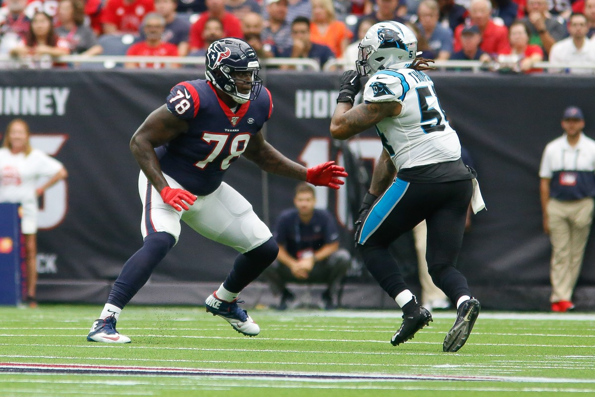 Laremy Tunsil suffered a hand injury on Sunday against New England.