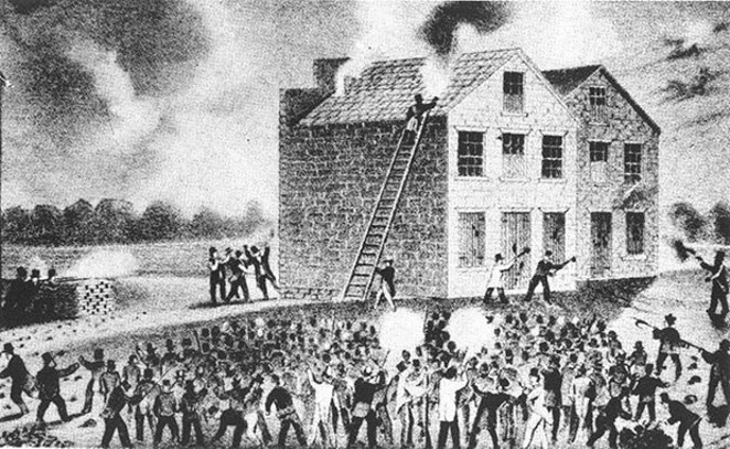 A pro-slavery riot in Alton led to the death of abolitionist and newspaper editor Elijah Lovejoy. - COURTESY THE ABRAHAM LINCOLN PRESIDENTIAL LIBRARY AND MUSEUM.