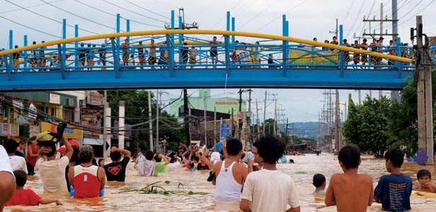 Typhoon Ketsana took more than 225 lives in the Philippines, where suffering continues after the storm. Hospital Sisters Mission Outreach needs financial contributions to cover the cost of shipping hospital equipment and relief supplies. - PHOTO BY TYRONE AND RALPH LAGAMON
