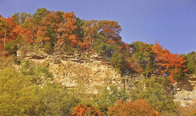 Fall is a great time to visit Calhoun County, nestled between the Illinois and Mississippi rivers in southwestern Illinois. The county's limestone bluffs overlook the rivers and provide fall color-seekers a treat. - PHOTO COURTESY OF CALHOUN COUNTY VISITORS CENTER.