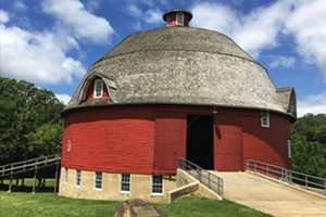 This round barn, near Kewanee, was built in 1910 by a Chicago doctor for his Black Angus cattle. - PHOTO BY CINDY LADAGE