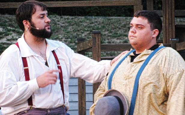 Levi (Kyle Harvey) and Will (Garth Whitehead) discuss enlisting in the Army of the Ohio.