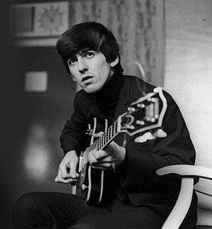 A youthful George Harrison.