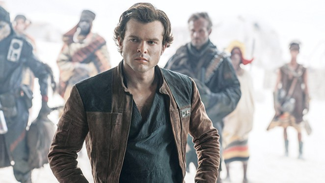Alden Ehrenreich as Han Solo in Solo: A Star Wars Story.