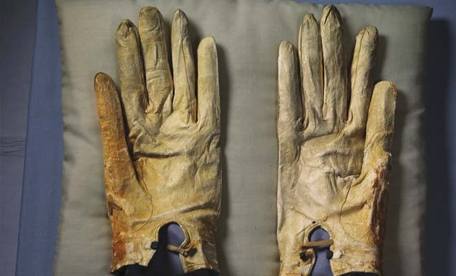 The gloves Abraham Lincoln wore the night he was assassinated. - PHOTO BY ANNIE LEIBOVITZ