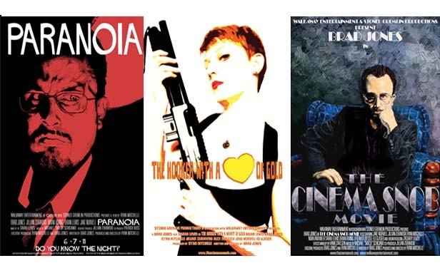Jones has written seven screenplays and directed five movies. - POSTERS BY DAVID GOBBLE