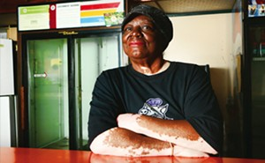 Mary Clay of Clay's Popeye's Barbecue recently added vegan items to her menu. - PHOTOS BY PATRICK YEAGLE