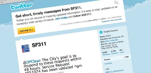 The City of San Francisco uses Twitter to act quickly on resident complaints.