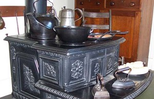 When Oldroyd was fired as the Lincoln Home custodian, he stole more than two dozen items from the home, including the Lincolns' heavy, cast-iron stove, which left the new custodian with no cooking apparatus. Over the years, the stove and 24 other pil - PHOTO COURTESY OF THE LINCOLN HOME NATIONAL HISTORIC SITE