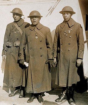 Springfield native Otis B. Duncan, center, was the highest-ranking African-American officer to serve in the American Expeditionary Forces in World War I. - PHOTO COURTESY OF THE NATIONAL ARCHIVES AND RECORDS ADMINISTRATION.