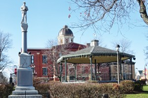 The Band Stand in Woodstock Square features prominently in Groundhog Day and in the Groundhog Days celebrations. - PHOTO BY JOHN CAMPER