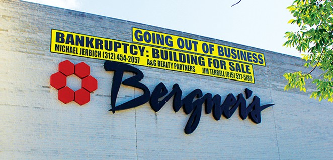 MYERS BROTHERS, ONE OF SPRINGFIELD'S FIREST DEPARTMENT STORES, BECAME BERGNER'S IN 1983.