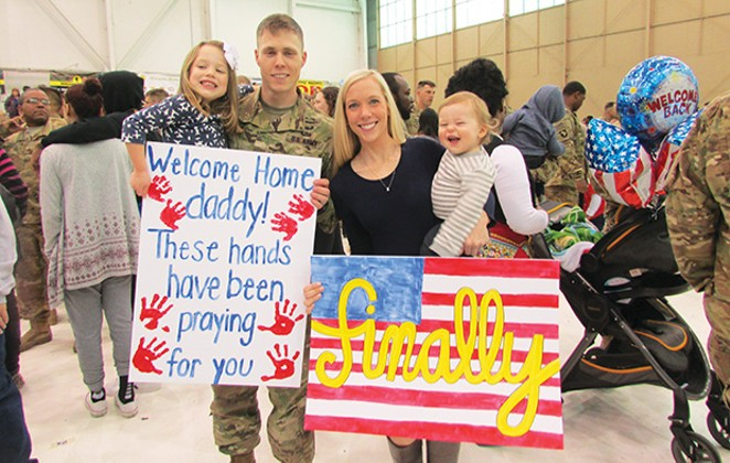 US Army Captain Chase Burnett and family - PHOTO COUTESY CTW