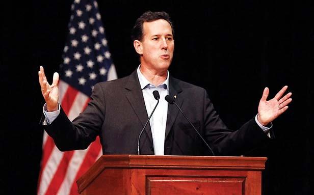 GOP presidential candidate Rick Santorum. - PHOTO BY TIM ISBELL