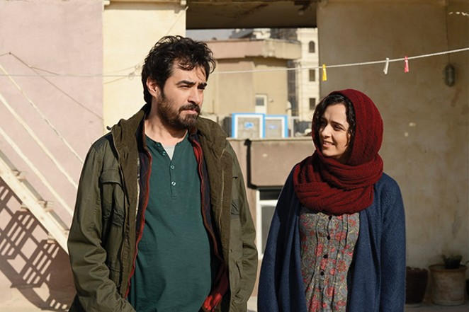 Shahab Hosseini as Emad and Taraneh Alidoosti as Rana in The Salesman.