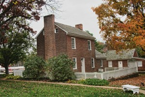 Sappington House is a brick structure that takes the visitor back in time. - PHOTO BY CINDY LADAGE
