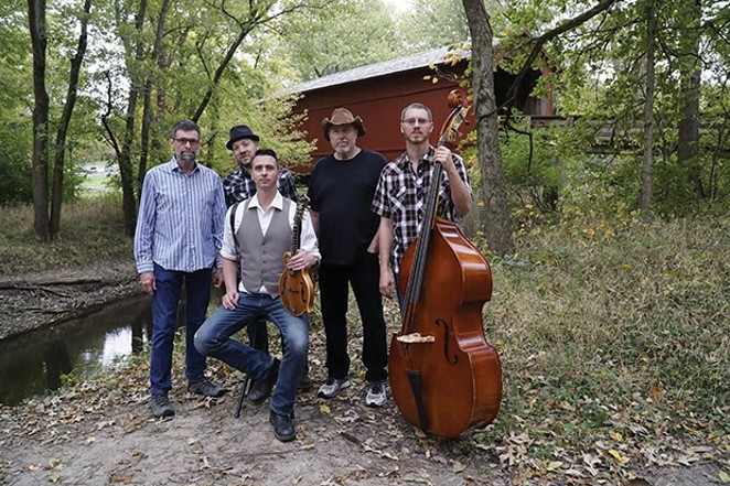 Square of the Roots play on Sunday afternoon at 1pm during the Joe & Jerry Tribute hosted by Penny Lane and Perfunctory This Band at Douglas Park.