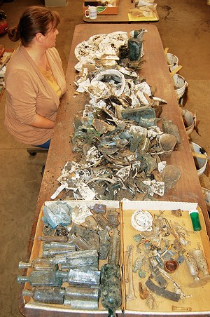 "Archaeologist Floyd Mansberger called the artifacts recovered from the dig ""nothing short of spectacular,"" both in quantity and quality. - COURTESY OF FEVER RIVER RESEARCH."