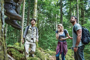 Yukiyoshi Ozama, Natalie Dormer and Taylor Kinney in The Forest. - PHOTO COURTESY GRAMERCY PICTURES
