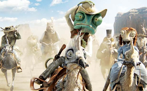 Johnny Depp stars as a chameleon with an identity crisis in Rango.