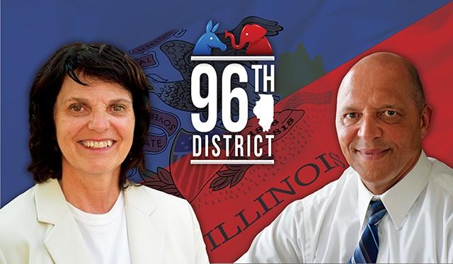 Democratic incumbent Sue Scherer and Republican challenger Herman Senor. - PHOTOS BY DAVID BLANCHETTE