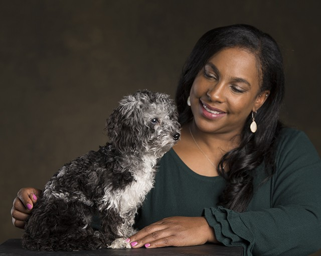 """Mia Woods, Big Brothers Big Sisters of the Illinois Capital Region """"Beau is a Maltipoo who will be one year old in March. He comes to work with me most days and is beloved by the entire staff. He's tiny, but has a huge personality. His nickna"""