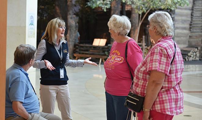 Ann Nika volunteering at the Abraham Lincoln Presidential Museum. - PHOTOS BY RACHEL JOHNSON