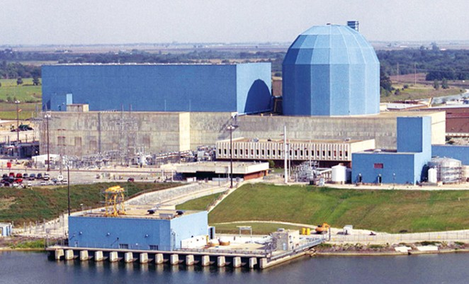 Clinton nuclear power plant.