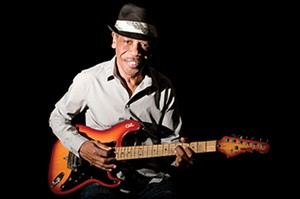 James Armstrong plays his blues at the Alamo on Monday, Dec.28.
